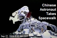 Chinese Astronaut Takes Spacewalk