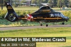 4 Killed in Md. Medevac Crash