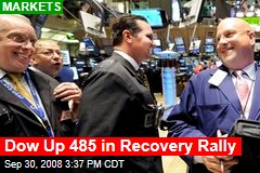 Dow Up 485 in Recovery Rally