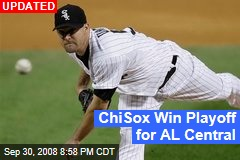 ChiSox Win Playoff for AL Central