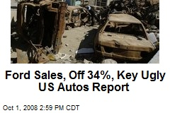 Ford Sales, Off 34%, Key Ugly US Autos Report