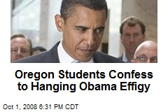 Oregon Students Confess to Hanging Obama Effigy