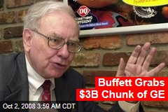 Buffett Grabs $3B Chunk of GE