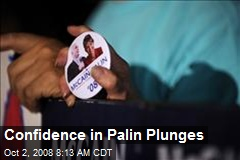Confidence in Palin Plunges