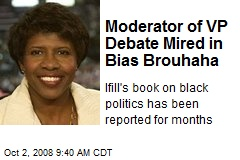 Moderator of VP Debate Mired in Bias Brouhaha