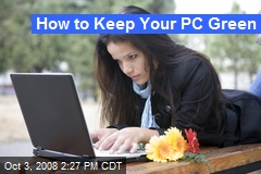 How to Keep Your PC Green
