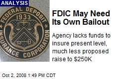 FDIC May Need Its Own Bailout