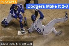 Dodgers Make It 2-0