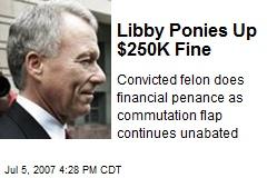 Libby Ponies Up $250K Fine