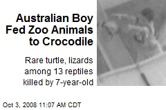 Australian Boy Fed Zoo Animals to Crocodile