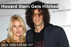 Howard Stern Gets Hitched