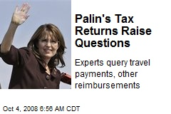 Palin's Tax Returns Raise Questions