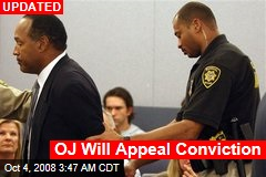 OJ Will Appeal Conviction