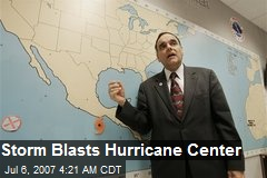 Storm Blasts Hurricane Center