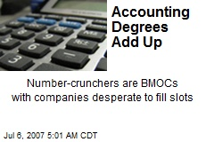 Accounting Degrees Add Up