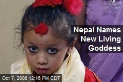 Nepal Names New Living Goddess