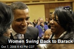 Women Swing Back to Barack