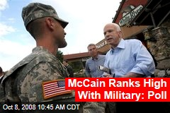 McCain Ranks High With Military: Poll