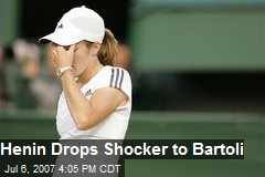 Henin Drops Shocker to Bartoli