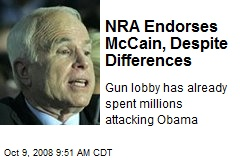 NRA Endorses McCain, Despite Differences