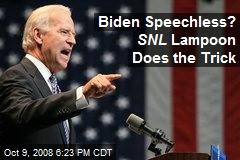 Biden Speechless? SNL Lampoon Does the Trick