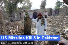 US Missiles Kill 5 in Pakistan
