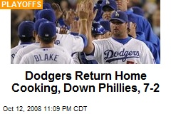 Dodgers Return Home Cooking, Down Phillies, 7-2