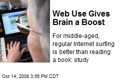 Web Use Gives Brain a Boost