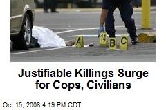 Justifiable Killings Surge for Cops, Civilians