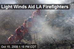 Light Winds Aid LA Firefighters