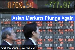 Asian Markets Plunge Again