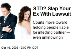 STD? Slap Your Ex With Lawsuit