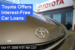Toyota Offers Interest-Free Car Loans