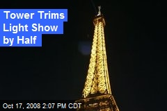 Tower Trims Light Show by Half