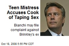 Teen Mistress Accuses Cook of Taping Sex