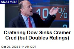 Cratering Dow Sinks Cramer Cred (but Doubles Ratings)