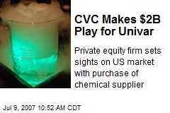 CVC Makes $2B Play for Univar