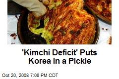 'Kimchi Deficit' Puts Korea in a Pickle