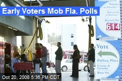Early Voters Mob Fla. Polls