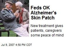 Feds OK Alzheimer's Skin Patch