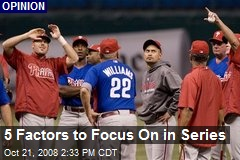 5 Factors to Focus On in Series