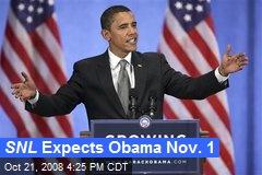 SNL Expects Obama Nov. 1