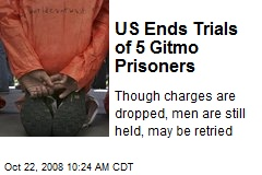 US Ends Trials of 5 Gitmo Prisoners