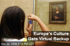 Europe's Culture Gets Virtual Backup