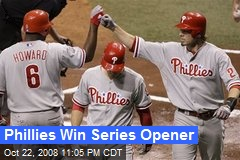 Phillies Win Series Opener