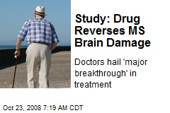 Study: Drug Reverses MS Brain Damage