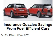 Insurance Guzzles Savings From Fuel-Efficient Cars