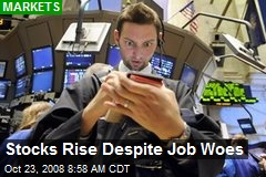 Stocks Rise Despite Job Woes
