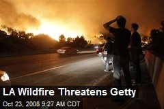 LA Wildfire Threatens Getty