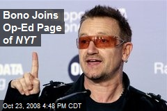 Bono Joins Op-Ed Page of NYT